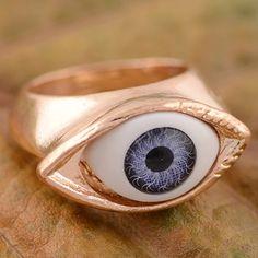 Fantastic Christmas Gift Women's Men's Angel's Bule Eye Ring Jewelry F00A20 | eBay