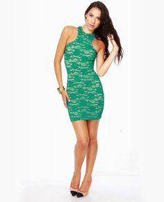 hc? One Rad Girl Lauren Green Lace Dress