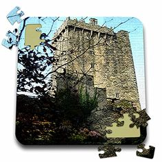 Jos Fauxtographee Realistic - The Blarney Castle in Ireland with Trees in Front and Textured to add Depth - 10x10 Inch Puzzle (pzl_44119_2) 3dRose http://www.amazon.com/dp/B016EBVA0C/ref=cm_sw_r_pi_dp_8b7swb15EABYJ