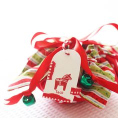 Christmas fabric gift pouch