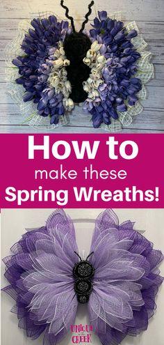 Beautiful DIY Spring Wreaths