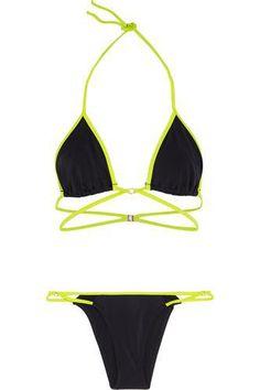 Cari two-tone triangle bikini #bikini #beachtrip #vacation #sunny #women #covetme #l'agentbyagentprovocateur