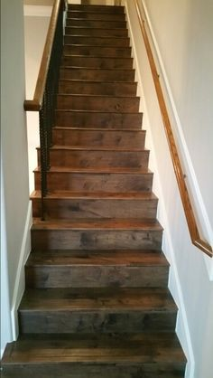 Consider laminate for your staircase it looks great & is