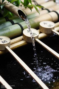 So peaceful and so beautiful -Japanese bamboo. The bamboo ladles are use for purification when visiting a Japanese shrine. Geisha, Japanese Culture, Japanese Art, Japanese Bamboo, Japanese Shrine, Culture Art, Japan Garden, Art Asiatique, Zen Meditation
