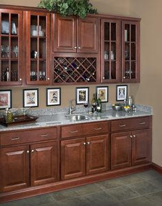 WOLF Classic Cabinets in Saginaw Crimson