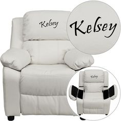 Personalized Wh Kids Recliner