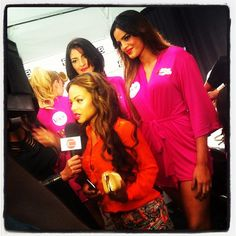 Actress/Singer/Songwriter Christina Milian backstage at MBFW in Miami #VeetSwim