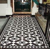 Victorian Old English Original Style Floor Tiles Carron Black And White