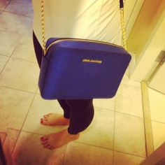 Michael Kors Jet Set Crossbody in Sapphire - fell in love with this bag!!