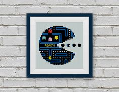 BOGO FREE PacMan Video Game Cross Stitch Pattern by StitchLine