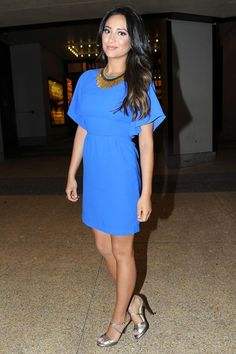 Shay Mitchell Looks Beautiful In A Bold Blue Dress: Get TheLook