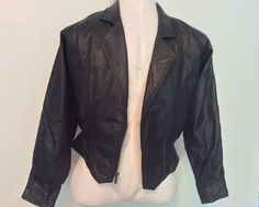 Womens Leather Biker Jacket Size Sm Cropped Vintage Wilsons Thinsulate Liner  #WilsonsLeather #Motorcycle
