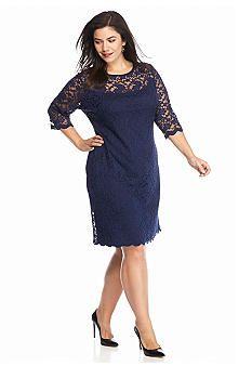 Women s Plus Sequin Lace Dress Shop Great Dresses at Sears