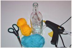 Fest umschlungen… DIY-Vasen aus alten Flaschen #diy #deko #decoration #trend #tutorial #anleitung #selbermachen #filizity