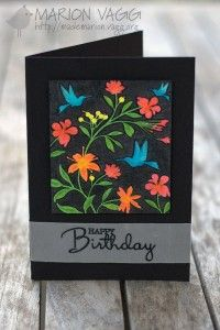 So I have another card to share with you based on Day 11 (using reverse stamps) from the Stretch Your Stamps class over at Online Card Classes. Super fun! I only own 2 reverse stamps - so my choice was rather easy. I stamped the image in VersaFine Onyx Black ink and then coloured in [...]