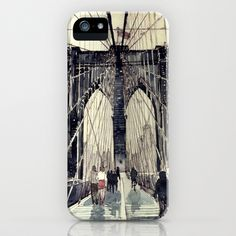Brooklyn Bridge iPhone Case by takmaj - $35.00