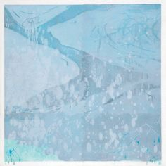 「silent sounds」 100×100cm lithograph,aruminiumleaf,pigment  2006