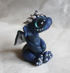 Starry Blue Bitty Dragon