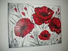 Coquelicots piercing prices - Tattoos And Body Art Oil Painting Flowers, Abstract Flowers, Texture Painting, Stone Painting, Canvas Painting Projects, Acrylic Painting Canvas, Ceramic Poppies, Art Walk, Sketch Painting