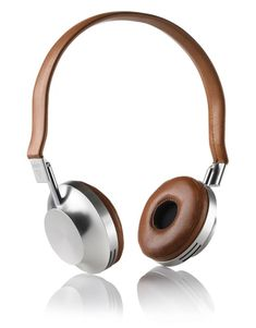Aëdle Headphones in tan leather and brushed aluminium.
