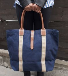 The perfect weekend travel bag // Westwood Canvas & Leather Tote Bag by Leather Cottage LA on Scoutmob