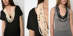 DIY tshirt necklace