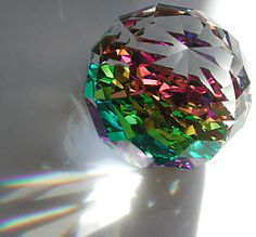 I bought mom a prism just like this when I was younger. She (and I) both loved colour, glass and shiny things. I have it now, it sits on my dresser and I think of her when I look at it. ♥