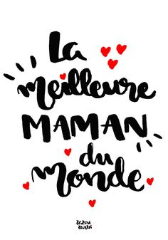 Printable meilleure maman du monde français