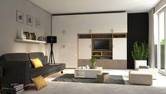 Obývačkový nábytok s množstvom úložného priestoru