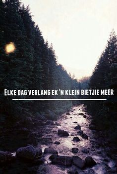 <3 Hidden Garden, Afrikaans Quotes, Quotes For Him, Mythology, Water, Movie Posters, Outdoor, Gripe Water, Outdoors
