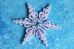 L size snowflake from set KETCHUM Paper quilled by OrnamentHouse