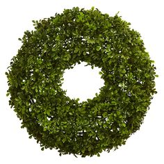 Boxwood Wreath (22) - Nearly Natural, Green
