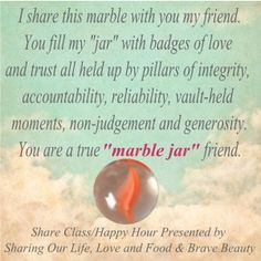 marble jar friend card