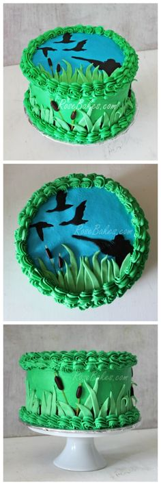 Duck Hunting Hunter Cake my dad loves hunter Delicious Cake Recipes, Yummy Cakes, Beautiful Cakes, Amazing Cakes, Duck Hunting Cakes, Grit Cakes, Best Beef Jerky, One Layer Cakes, Modeling Chocolate