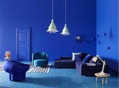 Mur bleu majorelle /
