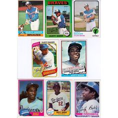 20 + different DUSTY BAKER cards lot 1973 to 2014 Braves Dodgers A's Cubs Listing in the 1980-1989,Lots,MLB,Baseball,Sports Trading Cards,Sport Memorabilia & Cards Category on eBid United States | 153764794