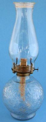 Princess House Fantasia Glass Oil Kerosene Lamp   eBay