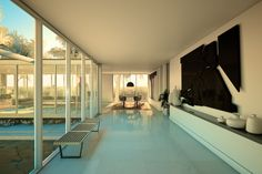 architecture visualization of the 1961 Daphne house by Craig Ellwood