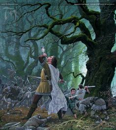 """Boromir's Last Stand"" by Ted Nasmith. I will never not be able to cry when seeing or reading it..."