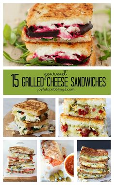15 gourmet grilled cheese recipes