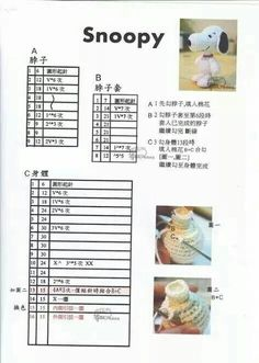 Pattern thai amigurumi snoopy2