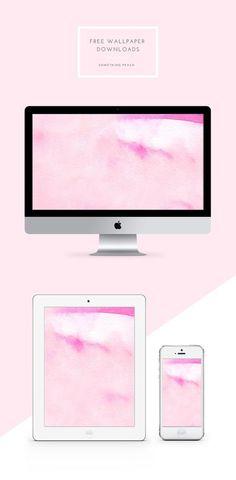 Mac Wallpaper, Macbook Wallpaper, Watercolor Wallpaper, Wallpaper For Your Phone, Trendy Wallpaper, Wallpaper Backgrounds, Computer Backgrounds, Pink Watercolor, Desktop Wallpapers