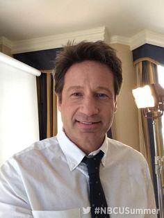 "lostdogs10: ""@DavidDuchovny at NBC Universal Summer Press Day (04.02.2015). #Aquariusnbc #Aquarius """