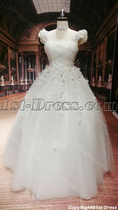 1st-dress.com Offers High Quality Modest Plus Size Bridal Gowns Atlanta with Cap Sleeves,Priced At Only US$199.00 (Free Shipping) Best Casual Dresses, Dresses For Work, Bridal Gowns, Wedding Gowns, White Quinceanera Dresses, Cute Work Outfits, Scoop Neck Dress, Professional Outfits, Cap Sleeves