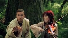 Lindsey Stirling and Peter Hollens. This is so awesome....