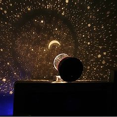 Starry Night Sky Projector Colorful LED Night Light (Random Color,Powered by 3 AA Battery) 2016 – $6.99