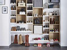 Un dressing spécial chaussures. #shoesing http://www.m-habitat.fr/petits-espaces/dressing/installer-un-shoesing-chez-soi-2719_A
