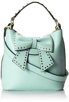 Betsey Johnson Hopeless Romantic Bucket Shoulder Bag,Mint,One Size