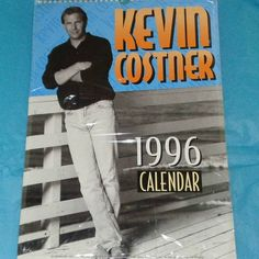 Rare Kevin Costner 1996 Oliver Books Calendar Film Memorabilia