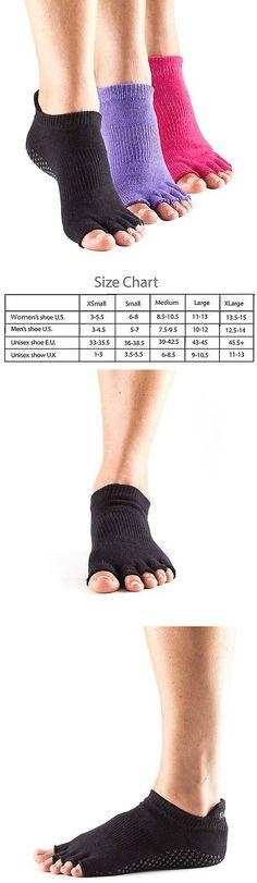 Socks 66078: Toesox Half Toe Low Rise Grip Pilates Barre Socks 3 Pk Black Fuchsia Purple, M -> BUY IT NOW ONLY: $62.39 on eBay!